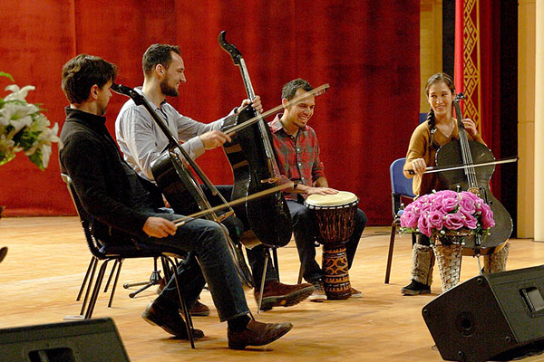 """Cello rock band """"Break of Reality"""" performs in Baku 