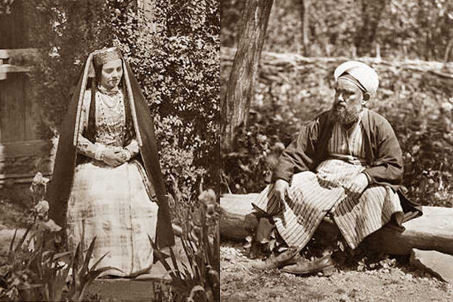 crimean tatar woman and man 1870-m