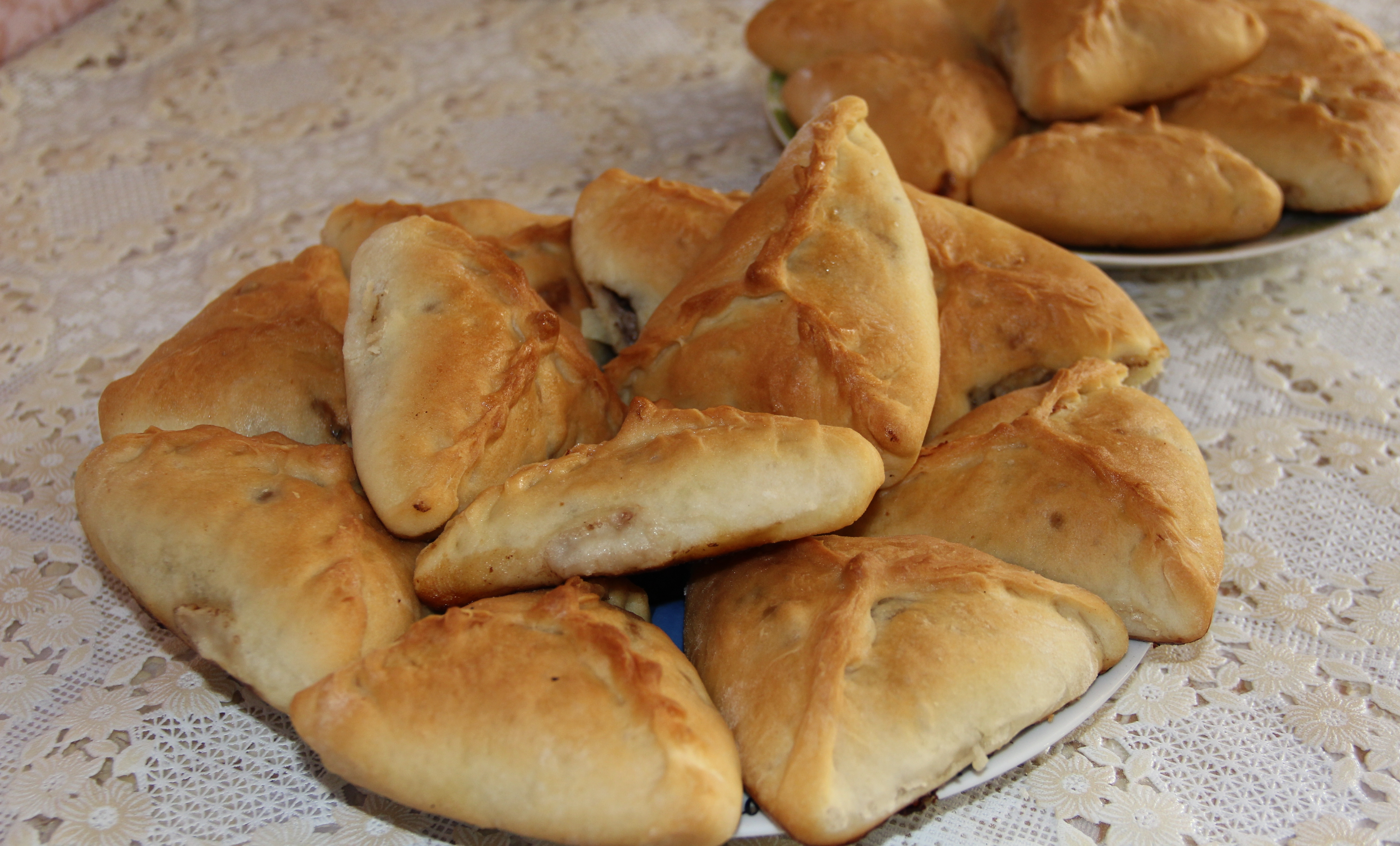 Татарские треугольники с курицей и картошкой рецепт